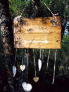 Sweet Wedding wooden label #charismadecoration