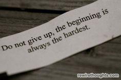 Beginning Is Always The Hardest