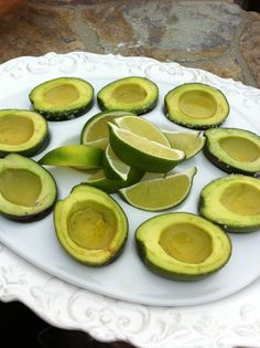 Teeny tiny avocados filled with tequila - and rimmed with sea salt. I think YES!