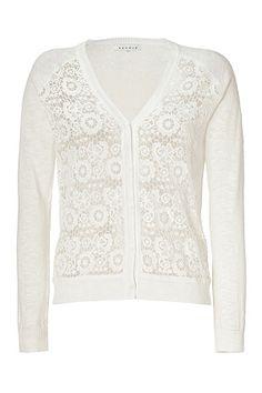 SANDRO  Ecru Knit Cropped Cardigan,     122 €  (175 € -30% ). http://www.stylebop.com/gr/product_details.php?menu1=categories=http%3A%2F%2Fwww.stylebop.com%2Flook.php%3Fnbr%3D19048=9=301951