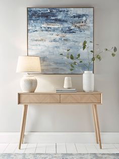 Console Tables, Small & Narrow Hallway Console Tables with Drawers UK - Console Table Decor, Oak Side Table, Scandinavian Furniture Design, Oak Furniture, Furniture Design, Console Table Hallway, Home Decor, Hallway Furniture, Oak Table