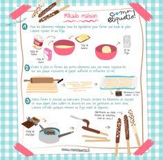 Homemade Pocky Sticks Recipe for Kids - Food Recipes 😋 Kids Cooking Recipes, Fun Cooking, Kids Meals, Easy Desserts, Delicious Desserts, Dessert Recipes, Fun Recipes, Drink Recipes, Cookie Recipes