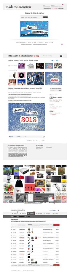 Project: Website - Client: Mademe et Monsieur  - Country: France - http://madame-et-monsieur.com / Works by KDS, Buenos Aires, Argentina / Find us in www.kds.com.ar or Facebook/KDSARG and Twitter/KDSARG / Tags: #casamiento #marriage #regalos #presentes #gift #listas #lists #novia #bride #novio #groom
