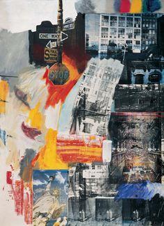 Estate | Robert Rauschenberg  |  Oil and silkscreen on canvas | Philadelphia Museum of Art