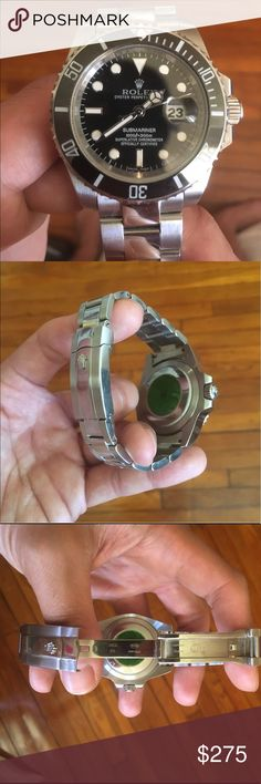 Submariner watch. Slightly Used Submariner, exact AAA class rep.. automatic watch that does not need a battery, no box included. Again this is not authentic and its only an exact rep, Accessories Watches