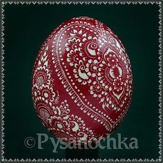 Real Pysanky. Hand Made Pysanka Easter Egg Chicken Scratched Technique