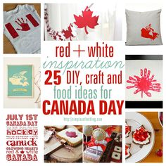 Doing this for my birthday next year. Canada Day inspiration: 25 DIY ideas, crafts, printables and recipes for July - simple as that Canada Day 150, Canada Day Party, Happy Canada Day, Canada Eh, Holiday Crafts, Holiday Fun, Christmas Diy, Displaying Childrens Artwork, Canada Day Crafts