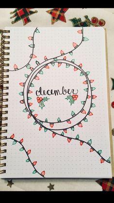 December bullet journal page inspiration