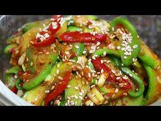 호박요리[애호박무침]더이상 기름지게 볶지말고 무침하세요~감탄할정도로 맛있는 밑반찬 호박무침!건강요리! - YouTube Korean Food, Food Plating, Kung Pao Chicken, Love Food, Green Beans, Recipies, Food And Drink, Asian, Meat