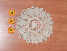 Beige round centrepiece 11 inches Crochet doily Lace doily Round doily Beige doily Crochet home decor Table decor Beige decor Windsor round - pinned by pin4etsy.com