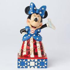 "Looks like Minnie is all ready for the 4th of July parade! ""STAR SPANGLED MINNIE"" - MINNIE MOUSE PATRIOTIC FIGURE (Jim Shore #Disney Traditions)"