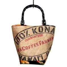 Kona coffee bag purse