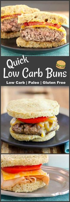 A quick low carb bun recipe for burgers or sandwiches