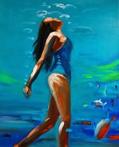 Gaia, Les Oeuvres, Disney Characters, Fictional Characters, Pin Up, Surfing, Illustration, Modern, Painting