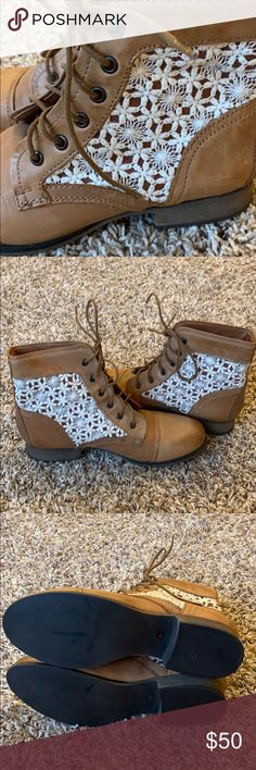 Fossil Thunder C Women's Booties Worn only once on carpet for a work event! In amazing condition! Steve Madden Shoes Ankle Boots & Booties