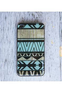 Mint Aztec Phone Case