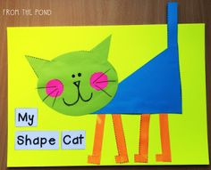More 2D Shape Animal Crafts + A Fox Freebie! (Frog Spot)