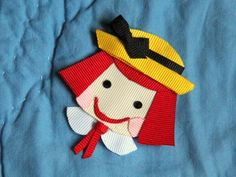 Madeline Inspired Ribbon Sculpture Hair Clip Bow Pin. $5.75, via Etsy.