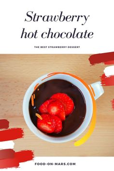 Are you looking for a healthy strawberry dessert? Strawberry combined with chocolate is the perfect mix! This is a great healthy snack for you and your family! Hot Chocolate Recipes, Vegetarian Chocolate, Sweets Recipes, Meal Recipes, Processed Sugar, Strawberry Desserts, Winter Food, Healthy Snacks, Mars