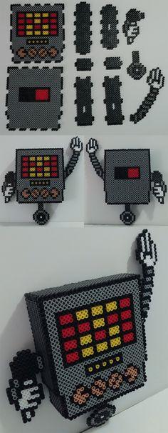 AMAZING. 1000% wanna try and make this. 3D Mettaton - Undertale Perler Beads by kamikazekeeg