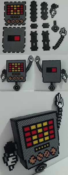 AMAZING. 1000% wanna try and make this. 3D Mettaton - Undertale Perler Beads by kamikazekeeg