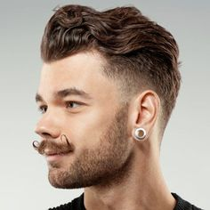 Wavy Haircuts For Men - Hipster Wavy Hair Mens Hairstyles Pompadour, Mens Modern Hairstyles, Hipster Hairstyles, Undercut Hairstyles, Cool Hairstyles, Wavy Haircuts, Hairstyle Men, Men's Pompadour, Medium Hairstyles