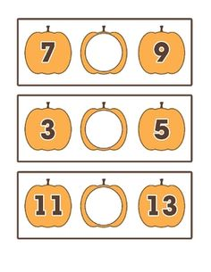 Activity: Pumpkin Patch  Use any operation in the middle empty pumpkin and find the final amount. Age: Kindergarten-2nd grade