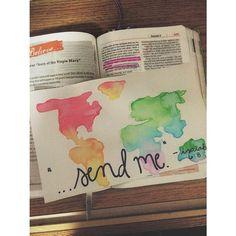 "|| Isaiah 6:8 ||  Watercolor painting. ""Send Me"" #christian #bible"