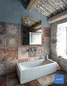 Badkamertrend! Met patchwork tegels in uw badkamer creëert u altijd een bijzondere en unieke badkamer.