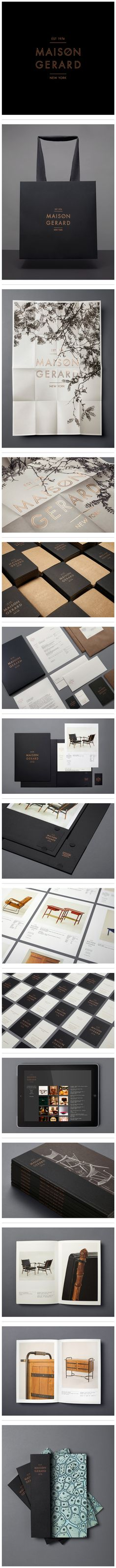 A lovely study in black and white branding for Maison Gerard, an amazing NYC-based antiques dealer. Designed by Christian Cervantes of motherdesign.com