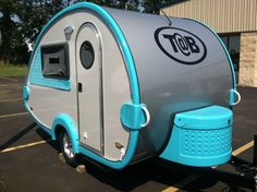 I've seen these T@B trailers in person. Really cool!  Little Guy Teardrop Camper - BLUE!