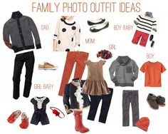 Great family picture outfit ideas! Will use later for our pictures!