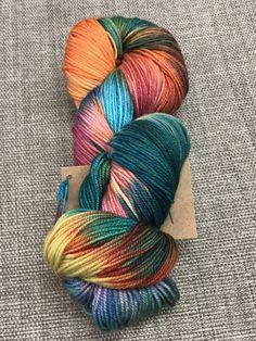 Sock Yarn Hand-dyed Yarn Natural Yarn Sport Weight Yarn Hand-Dyed Handspun Wool Yarn Pink Yarn Southdown Sheep Yarn