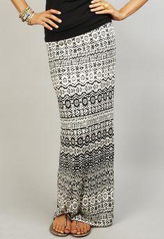 Papillon Tribal Maxi Skirt // @Tanya Knyazeva Uzan