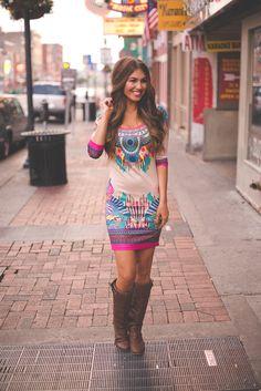 Dottie Couture Boutique - Tribal Bodycon Dress, $48.00 (http://www.dottiecouture.com/tribal-bodycon-dress/)