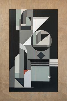 """""""Keskiyön Tango"""", 36"""" x 24"""" (91 x 61 cm), Acrylics on wood, 2015"""