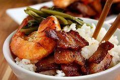 vietnamese caramelized shrimp and pork belly - pork belly is the best!
