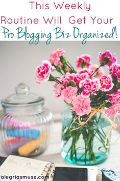 I urge anyone seriously attempting to gain PRO Blogger status, to try to implement this weekly routine to get organized!