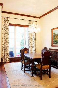 Dining Room - Using Family heirloom furniture