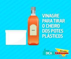 Deixe os potes plásticos sem cheiro! Veja como: http://www.supermercadosguanabara.com.br/dicas/vinagre-para-tirar-cheiro