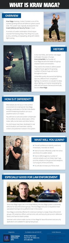 Krav Maga Self Defense System for Law Enforcment Infographic