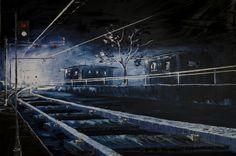 Salvatore Bua Olio su tela Tecnica: Spatola 120x80 Titolo: Ferrovie Anno 2012