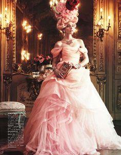 Oscar de la Renta pink tulle