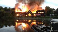 Fire at Hartford Mill pub in Hartford, Huntingdon.