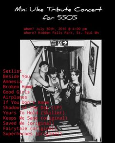 Mini Uke Tribute Concert for @5SOS ! Super excited! Hope to see some of you there 5sosfam! Only 3 months away!! Ahhh!