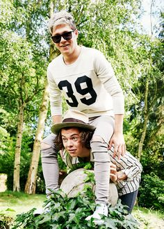 Niall and Harry (Narry goofiness) - FOUR photo shoot