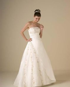 Wedding Dresses | A-Line Wedding Dresses | A Line Princess Strapless Chapel Train Tulle wedding dress for brides 2013 style