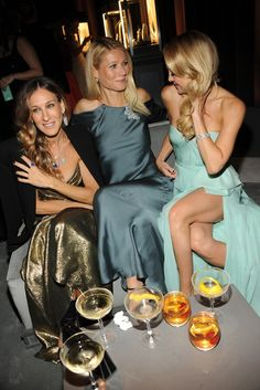 Sarah Jessica Parker in Tiffany & Co., Gwyneth Paltrow in Ralph Lauren and Kate Hudson in Reem Acra at Tiffany's Blue Book Ball