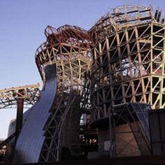 Museo Guggenheim Bilbao en construccion