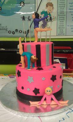 Gymnast Cake  www.contemporarycakery.com
